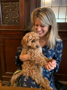 Dr Anna Martin with her puppy